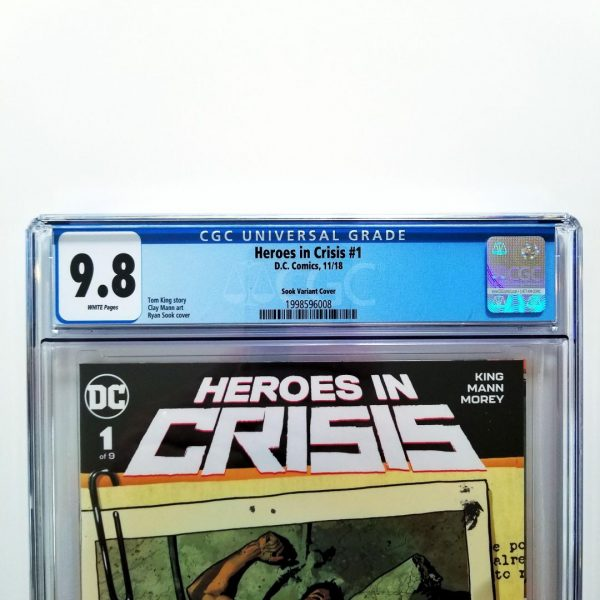 Heroes in Crisis #1 CGC 9.8 Ryan Sook Variant Front Label