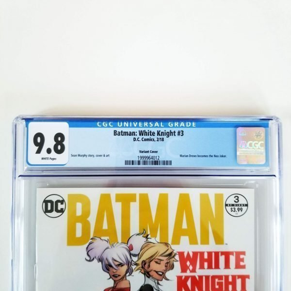 Batman: White Knight #3 CGC 9.8 Variant Front Label