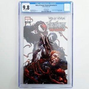 Web of Venom: Venom Unleashed #1 CGC 9.8 Crain Variant Front