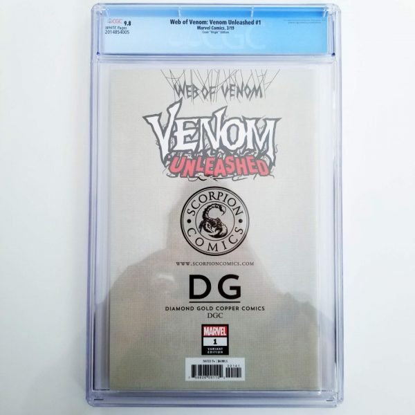 Web of Venom: Venom Unleashed #1 CGC 9.8 Crain Virgin Variant Back