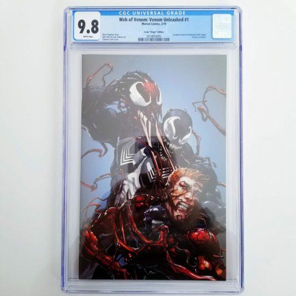 Web of Venom: Venom Unleashed #1 CGC 9.8 Crain Virgin Variant Front