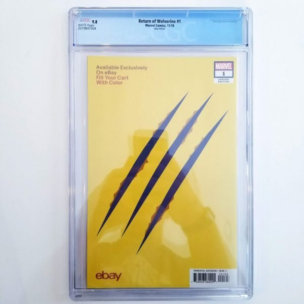 Return of Wolverine #1 CGC 9.8 eBay Variant Back