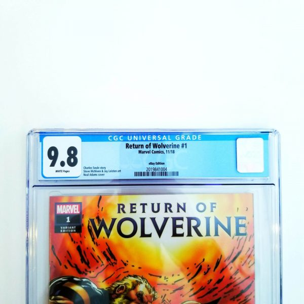 Return of Wolverine #1 CGC 9.8 eBay Variant Front Label