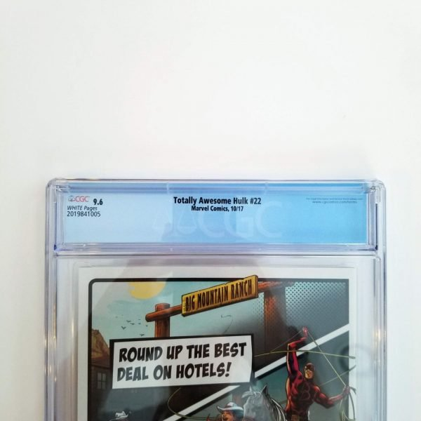 Totally Awesome Hulk #22 CGC 9.6 NM+ Back Label