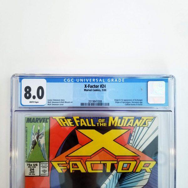 X-Factor #24 CGC 8.0 VF Front Label