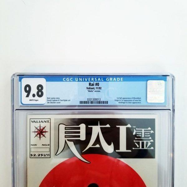 Rai #0 CGC 9.8 NM/M Front Label