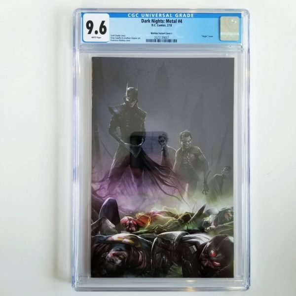 Dark Nights: Metal #4 CGC 9.6 NM+ Mattina Virgin Variant Front