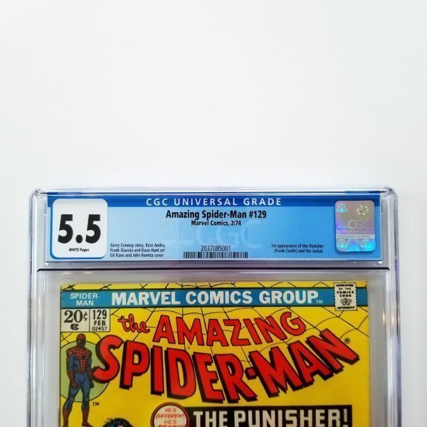Amazing Spider-Man #129 CGC 5.5 FN- Front Label