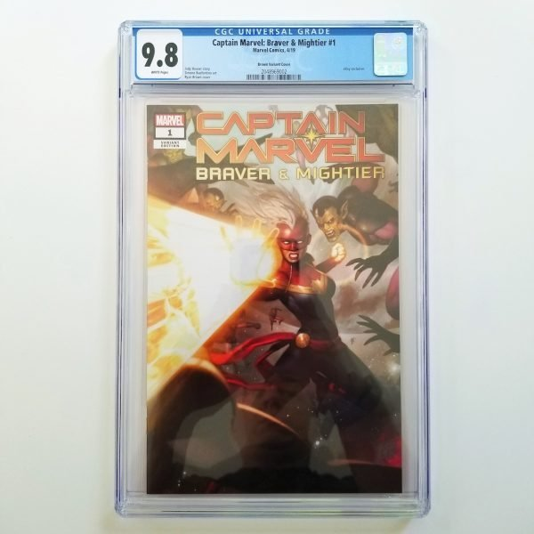Captain Marvel: Braver & Mightier #1 CGC 9.8 eBay Variant Front