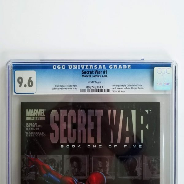 Secret War (2004) #1 CGC 9.6 Front Label