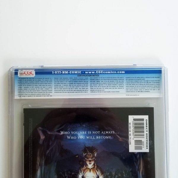 Secret War (2004) #3 CGC 9.8 Back Label