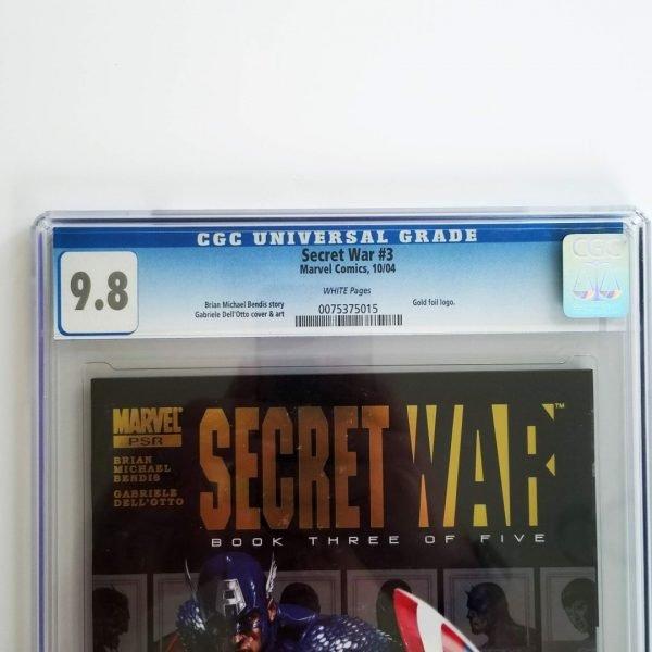 Secret War (2004) #3 CGC 9.8 Front Label