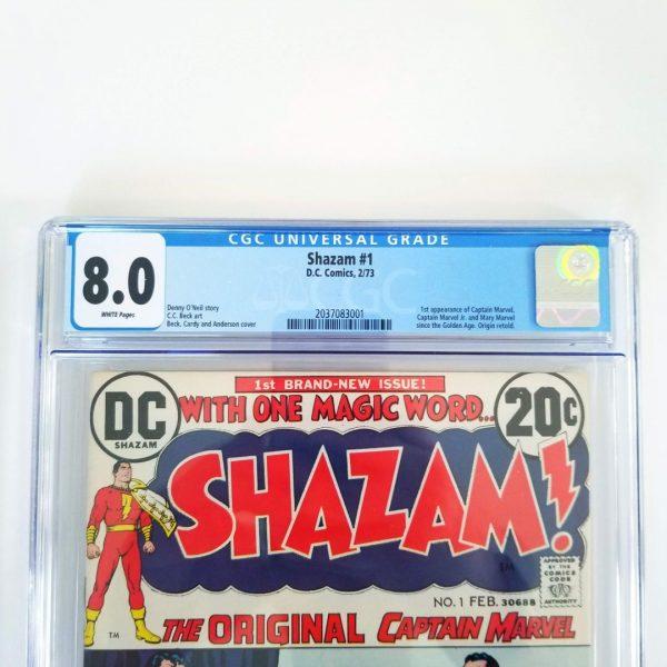 Shazam #1 CGC 8.5 VF Front Label
