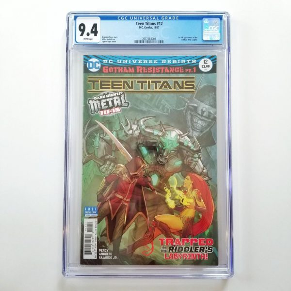 Teen Titans #12 CGC 9.4 NM Front