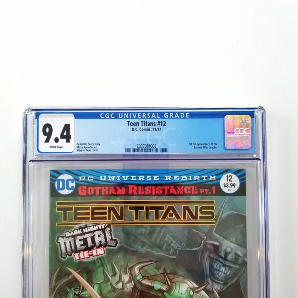 Teen Titans #12 CGC 9.4 NM Front Label