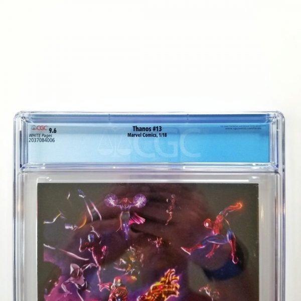 Thanos #13 CGC 9.6 NM+ Back Label
