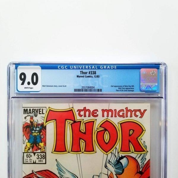 Thor #338 CGC 9.0 Front Label