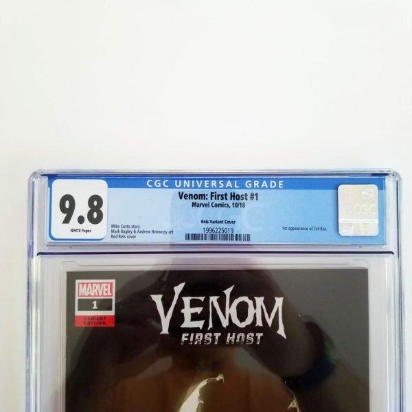 Venom: First Host #1 Reis Variant CGC 9.8 Front Label