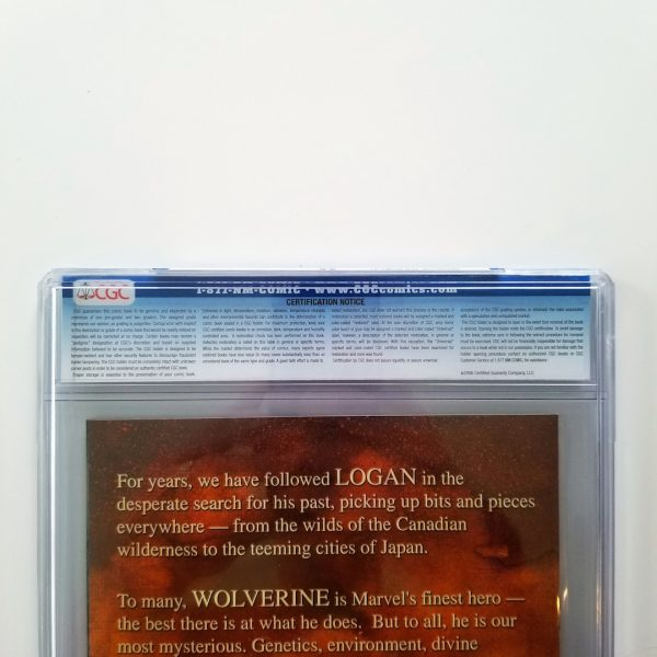 Wolverine: The Origin #1 CGC 9.6 NM+ Back Label