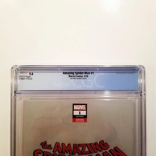 Amazing Spider-Man #1 Dell'Otto Variant Cover D CGC 9.8 Back Label