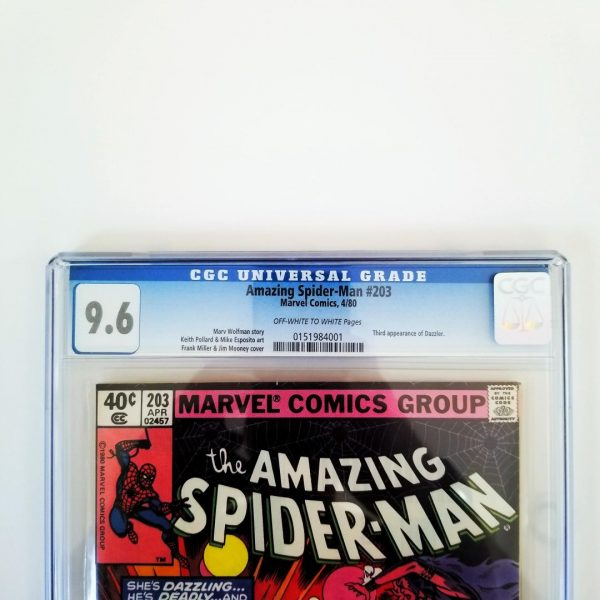 Amazing Spider-Man #203 CGC 9.6 NM+ Front Label