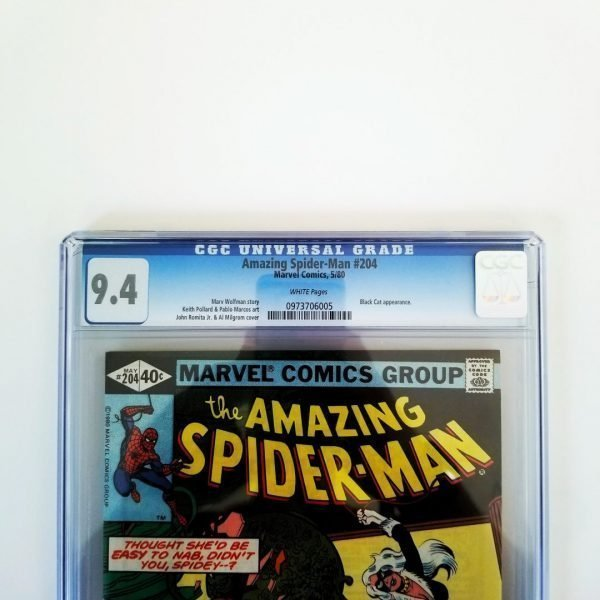 Amazing Spider-Man #204 CGC 9.4 Front Label