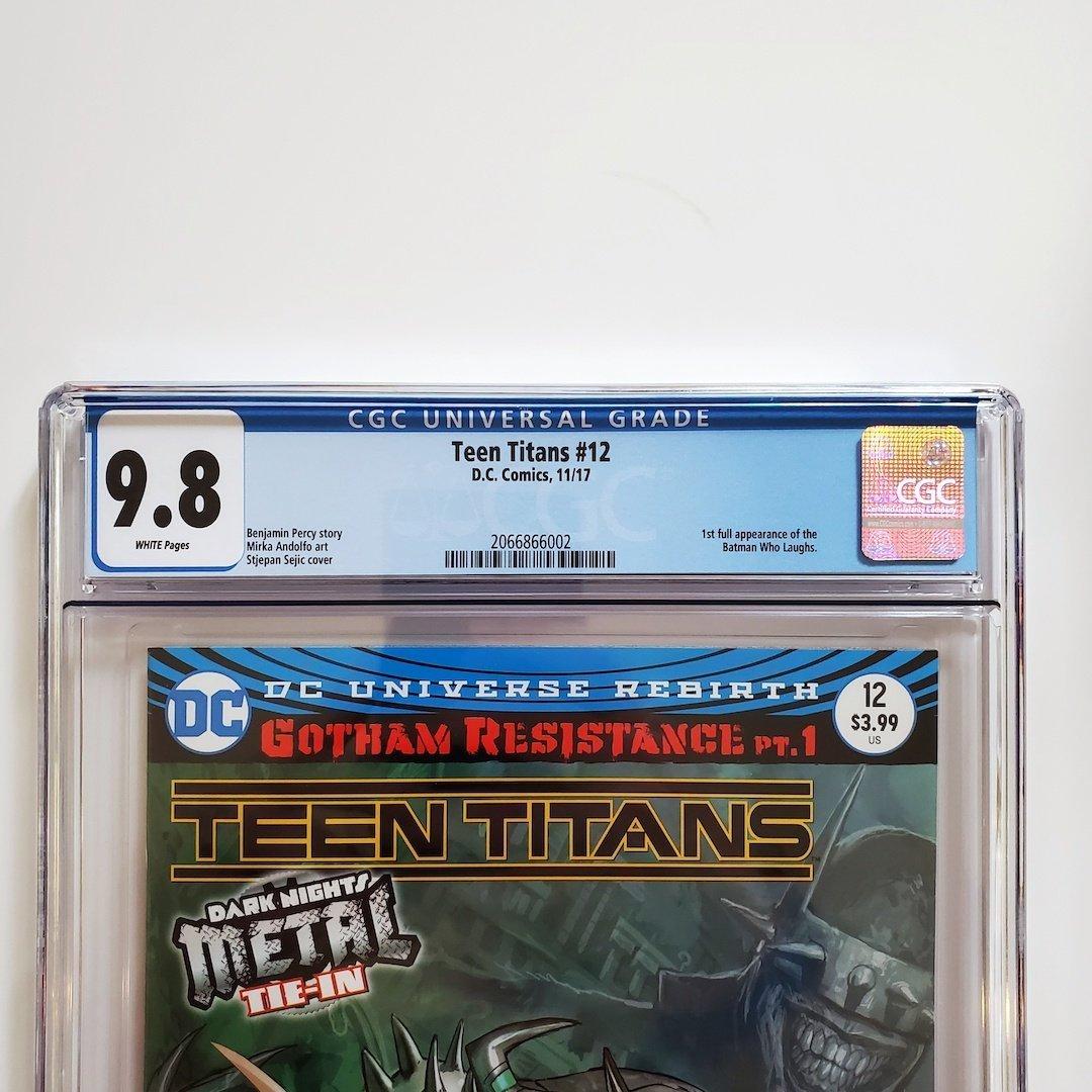 Teen Titans 12 Cgc 98 First Batman Who Laughs -4298
