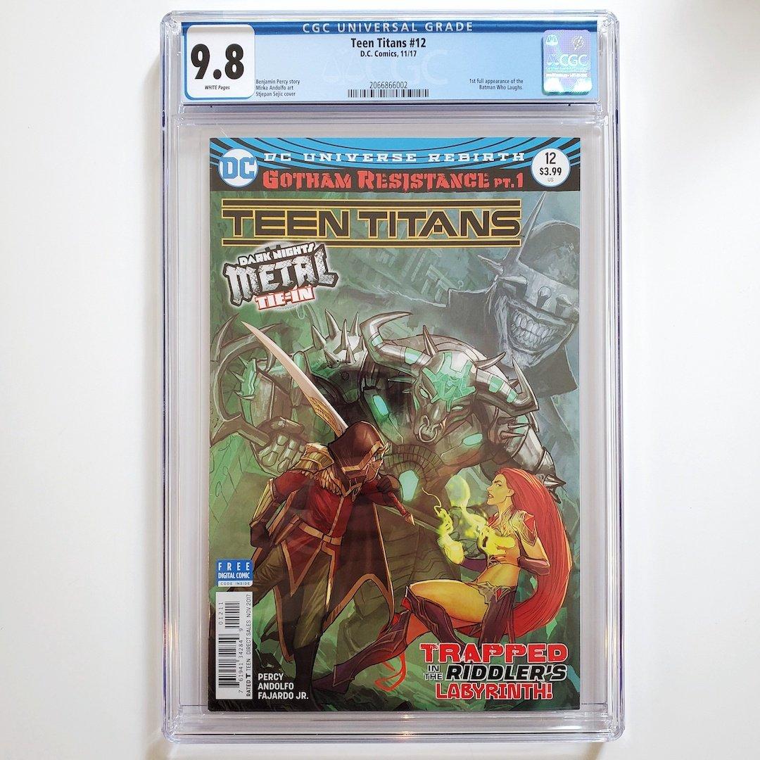 Teen Titans 12 Cgc 98 First Batman Who Laughs -2368