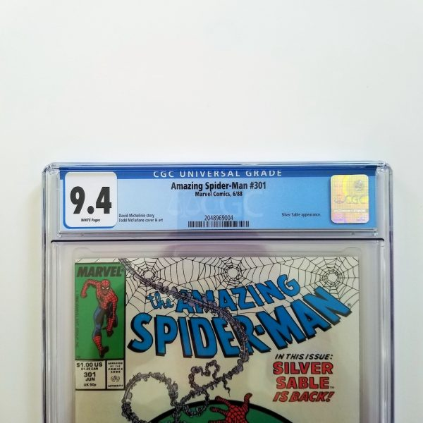 Amazing Spider-Man #301 CGC 9,4 NM Front Label
