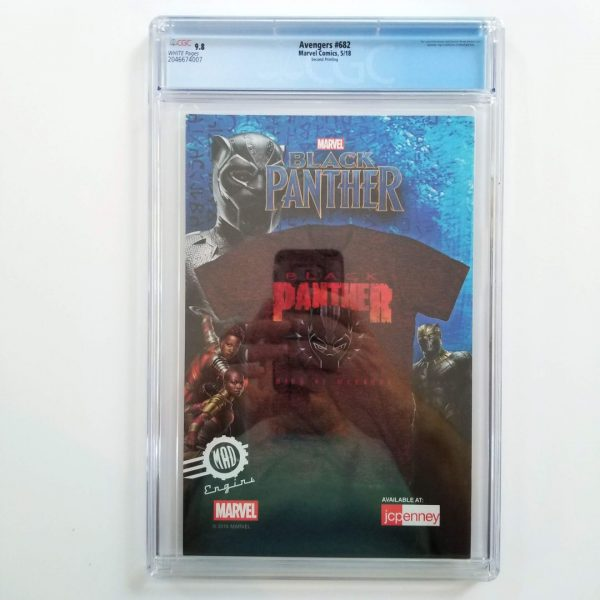 Avengers #682 CGC 9.8 NM/M 2nd Print Variant Back