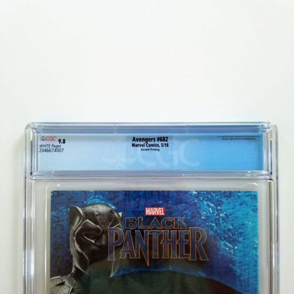 Avengers #682 CGC 9.8 NM/M 2nd Print Variant Back Label