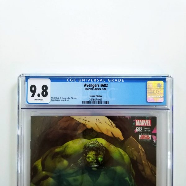 Avengers #682 CGC 9.8 NM/M 2nd Print Variant Front Label