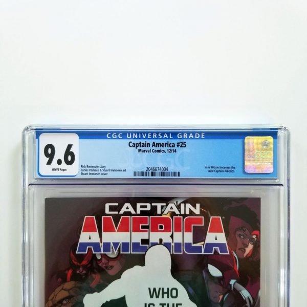 Captain America (Vol. 7) #25 CGC 9.6 NM+ Front Label