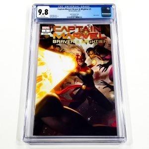 Captain Marvel: Braver & Mightier #1 CGC 9.8 NM/M eBay Variant Front