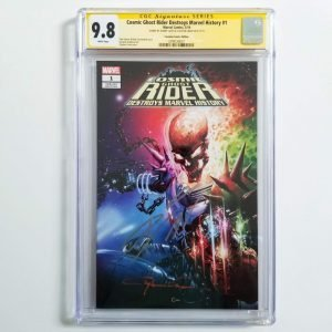 Cosmic Ghost Rider Destroys Marvel History #1 Crain Variant CGC SS 9.8 NM/M Front