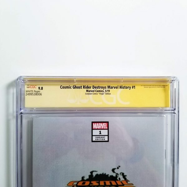 Cosmic Ghost Rider Destroys Marvel History #1 Crain Virgin Variant CGC SS 9.8 NM/M Back Label