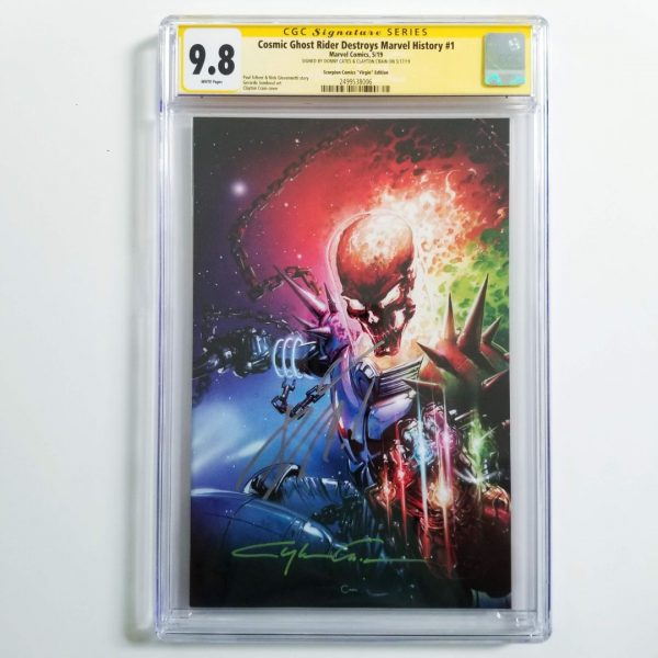 Cosmic Ghost Rider Destroys Marvel History #1 Crain Virgin Variant CGC SS 9.8 NM/M Front