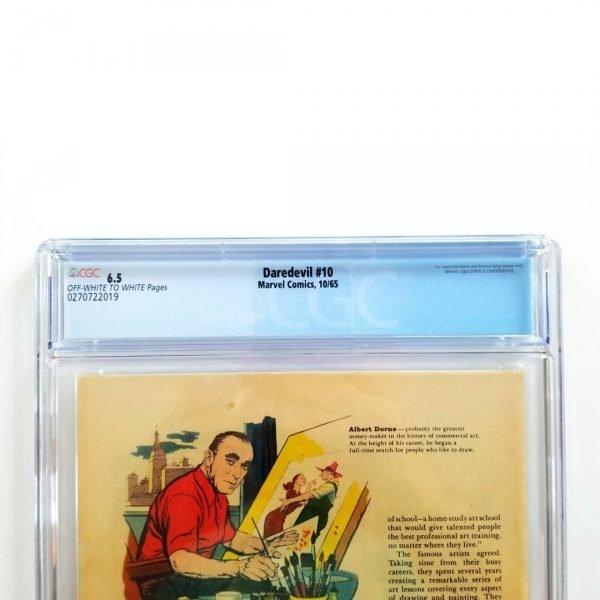 Daredevil #10 CGC 6.5 VF+ Back Label