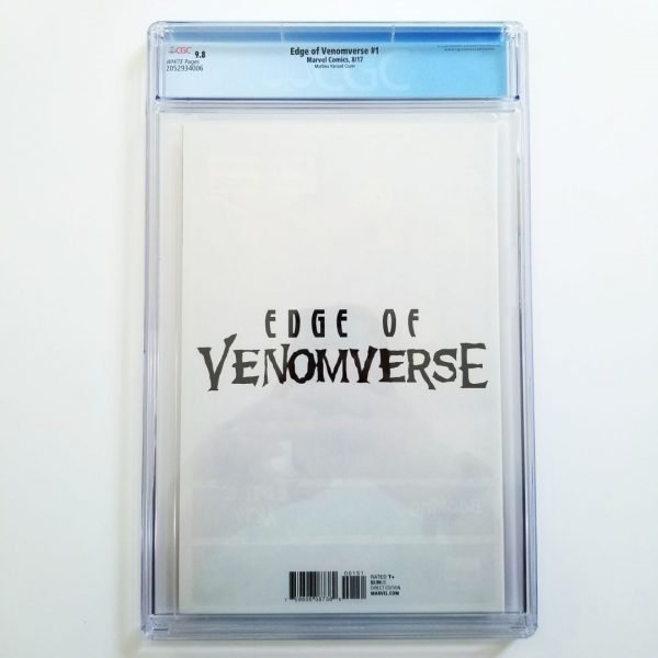 Edge of Venomverse #1 CGC 9.8 Mattina Variant Back