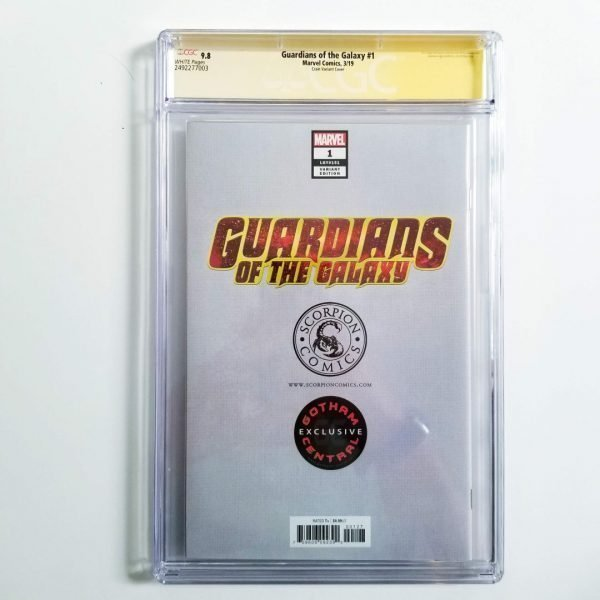 Guardians of the Galaxy #1 Crain Variant CGC SS 9.8 NM/M Back