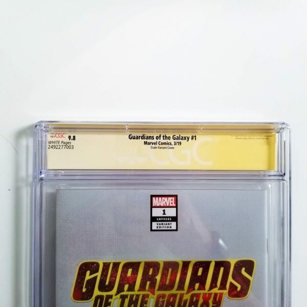 Guardians of the Galaxy #1 Crain Variant CGC SS 9.8 NM/M Back Label