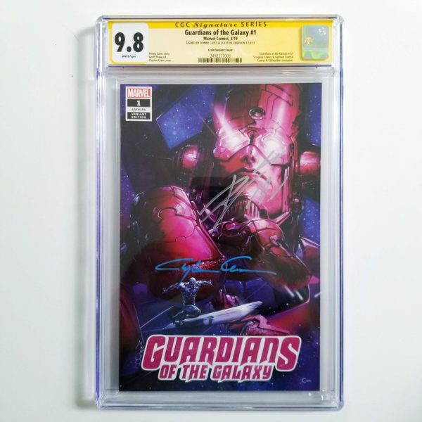 Guardians of the Galaxy #1 Crain Variant CGC SS 9.8 NM/M Front