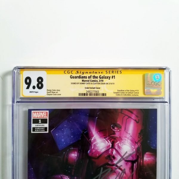 Guardians of the Galaxy #1 Crain Variant CGC SS 9.8 NM/M Front Label