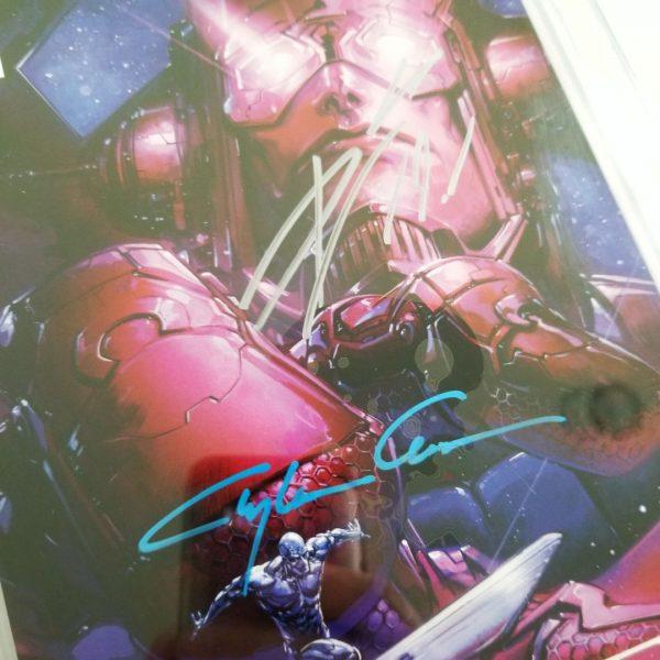 Guardians of the Galaxy #1 Crain Virgin Variant CGC SS 9.8 NM/M Signatures