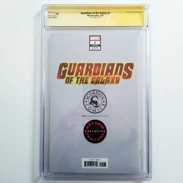Guardians of the Galaxy #1 Crain Virgin Variant CGC SS 9.8 NM/M Back