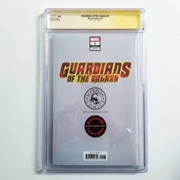 Guardians of the Galaxy #1 Crain Virgin Variant CGC SS 9.8 NM/M Back