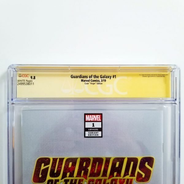 Guardians of the Galaxy #1 Crain Virgin Variant CGC SS 9.8 NM/M Back Label