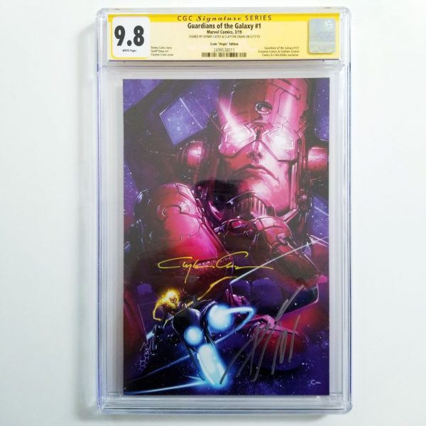 Guardians of the Galaxy #1 Crain Virgin Variant CGC SS 9.8 NM/M Front