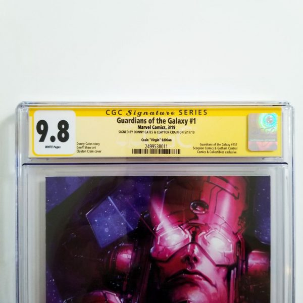 Guardians of the Galaxy #1 Crain Virgin Variant CGC SS 9.8 NM/M Front Label
