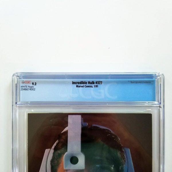 Incredible Hulk #377 CGC 9.2 NM- Back Label